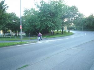 Fußgänger auf dem Mauenheim Gürtel