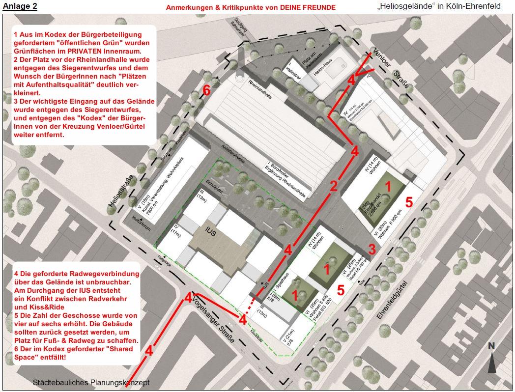 Städtebauliches Planungskonzept Heliosgelände Anmerkungen DEINE FREUNDE