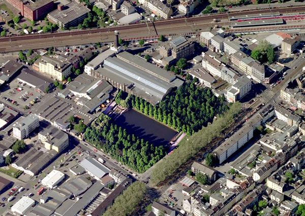 Und so sah unsere Planung für das Heliosgelände aus: Der Bauwens Adenauer Park ;)